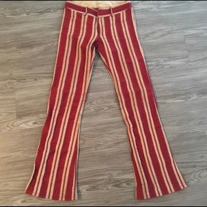 Alice and Olivia striped flare pants